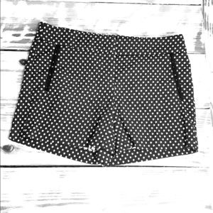 Cynthia Rowley Black & White Polka Dot Shorts